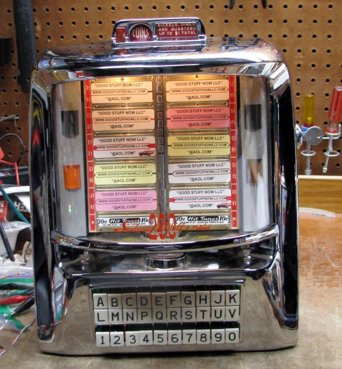 SEEBURG JUKEBOX WALLBOX 3WA-200 RESTORED and RECHROMED   STOCK #5483