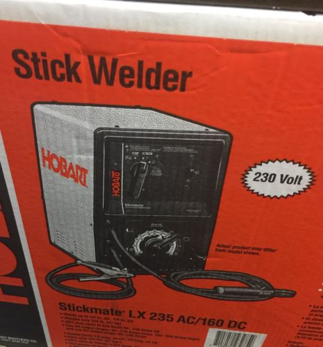 Hobart Welder LX 235 New In Box 500421 AC/DC Stick Welder, 20 percent, 60Hz