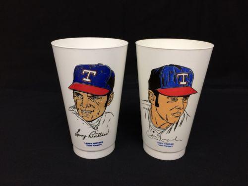 Vintage 7-11 Slurpee Cup Biittner Harrah Texas MLB