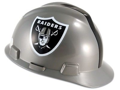 MSA 818405 NFL Hard Hat, Oakland Raiders Silver and Black