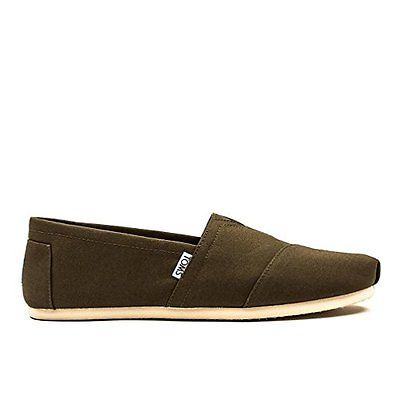 MENS TOMS CLASSIC CANVAS SLIP ON - CHOCOLATE BROWN  SIZE 13
