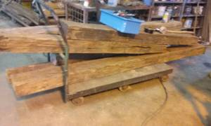 Stone wood stove walnut mantle huge ! chestnut beams skidder arch (nelson)
