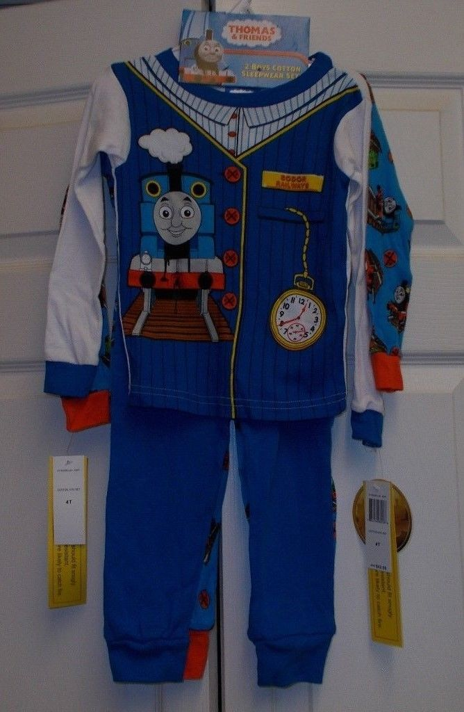 NEW WITH TAGS BOYS SIZE 4T 4 PIECE THOMAS AND FRIENDS COTTON PJ SETS