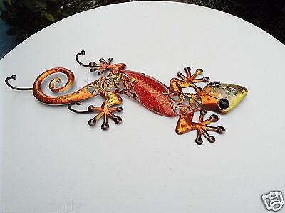 Iguana Gecko Lizard Metal Wall Decor Hanging Coat Rack Animal Figurine