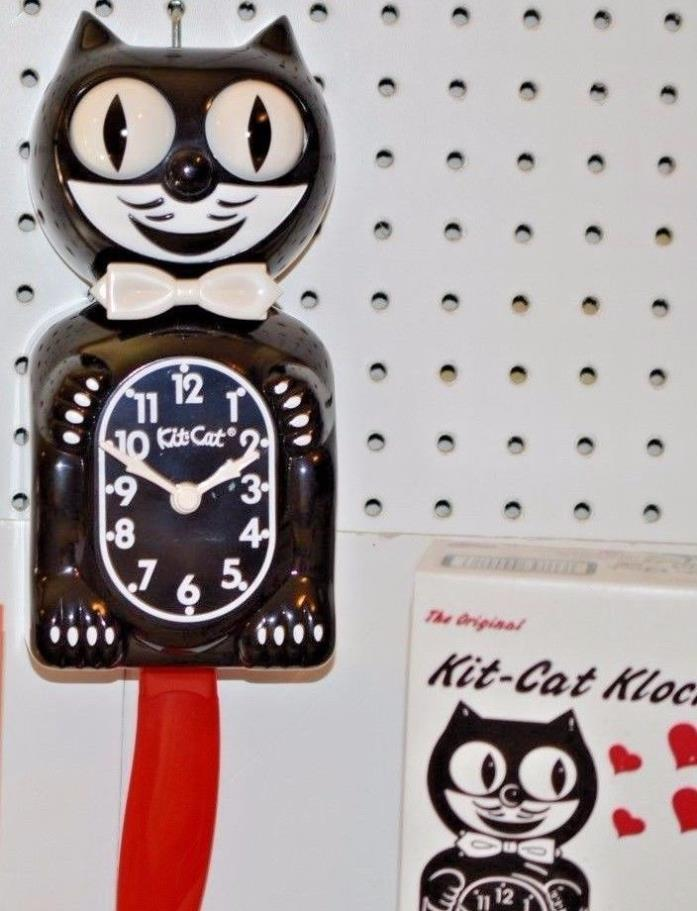 Kit Cat Clock Black with Red Tail Made In USA Ship Priority in 24 Hrs.