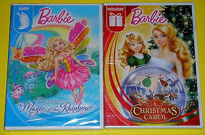 Barbie DVD Lot - A Christmas Carol (New) Fairytopia Magic of the Rainbow (New)