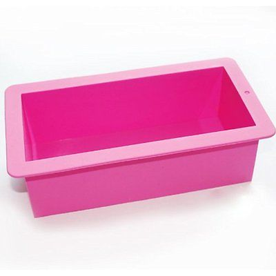 X-Haibei Flexible Regular Silicone Molds Loaf Soap Making Mold Supplies Cake Pan