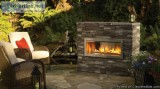 NEW OUTDOOR GAS FIREPLACE Modern Linear Design VentFree FREE Ins