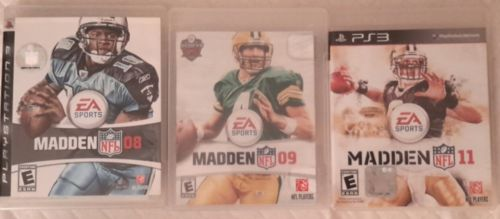 PS3 Madden NFL Lot of 3 games 08, 09, 11