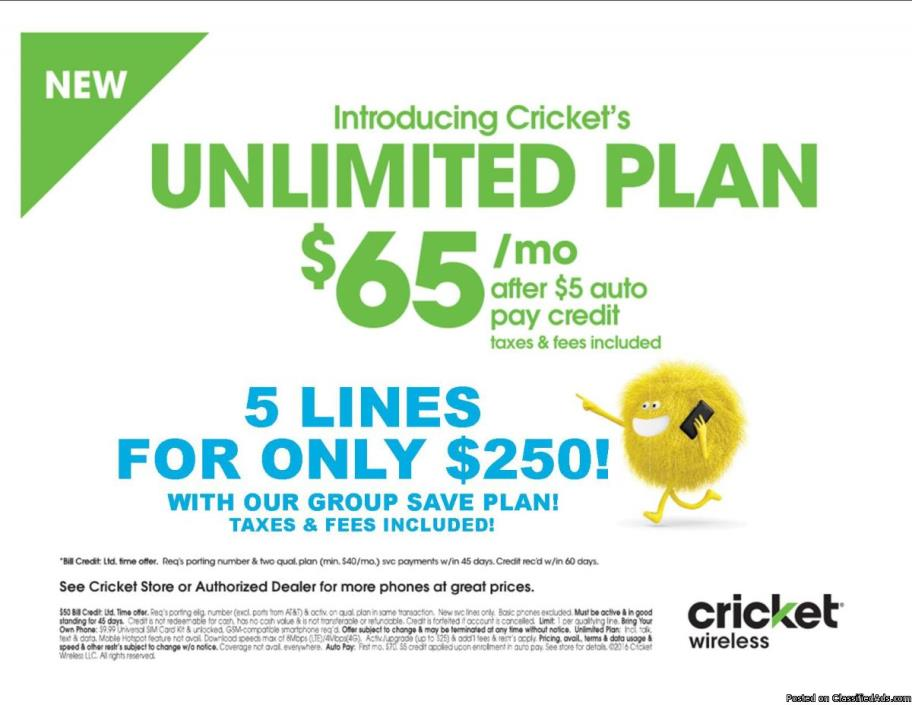 Unlimited Data $65/Month!!!