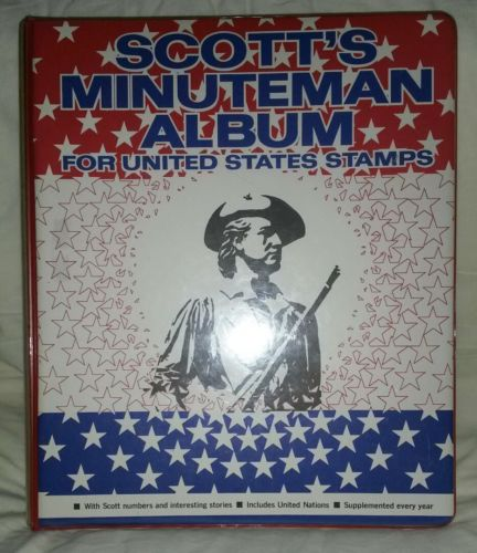 1971 Scott Minuteman Stamp Album United States Empty Book