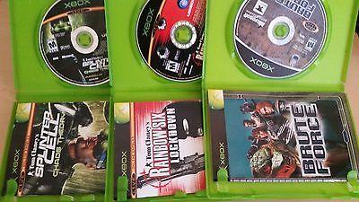 Set of 3 Xbox Games - Rainbow Six Lockdown, Splinter Cell Chaos, Brute Force