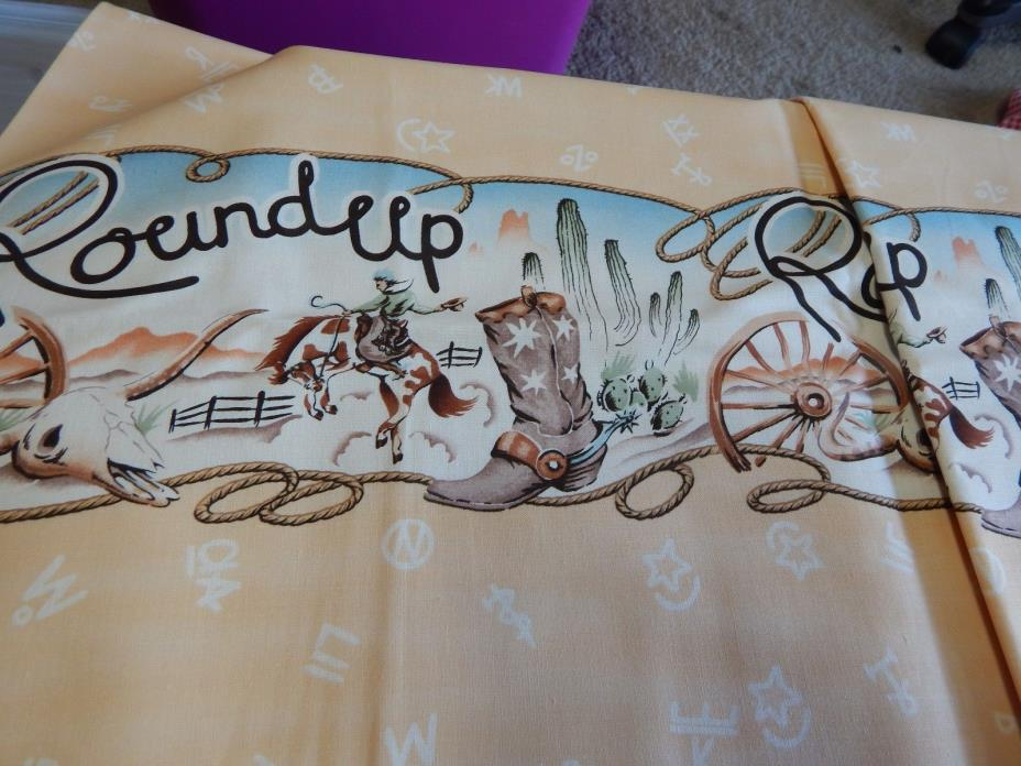 ROUND UP BORDER - THE ALEXANDER HENRY FABRICS COLLECTION - 1999 - 3 YARDS