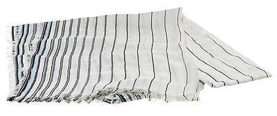 Gucci White Multicolor Striped GG Scarf