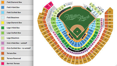 (2) Milwaukee Brewers Opening Day '17 Tickets, Sec 231, 04/03/17 @Miller Park