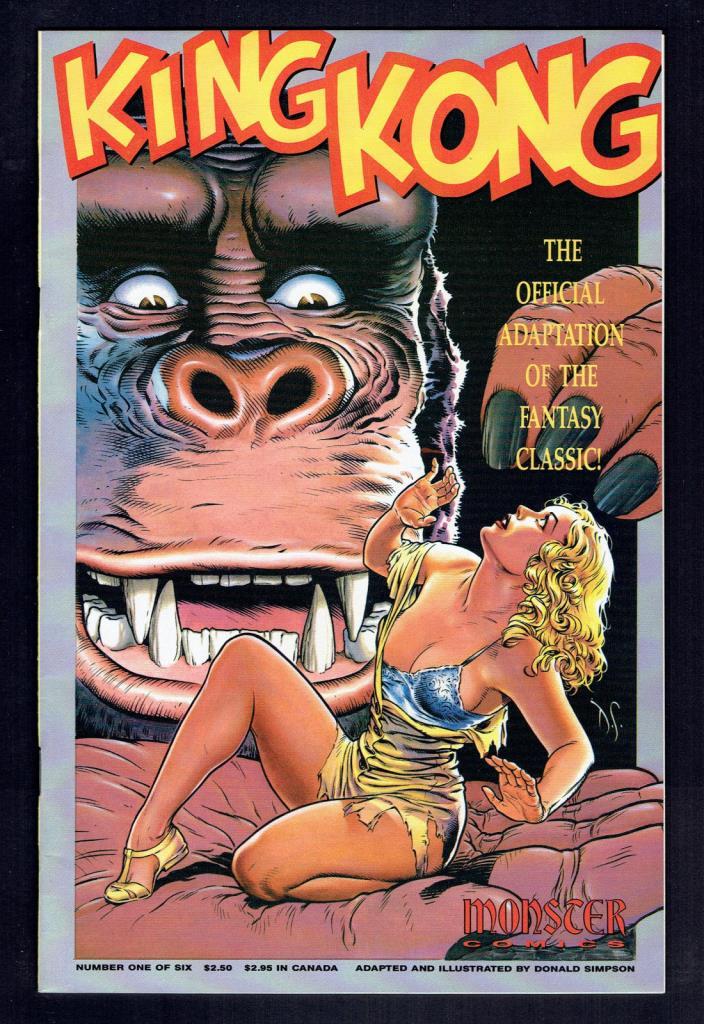 1991 Monster Comics King Kong #1 VF+ King Kong #2 VF/NM