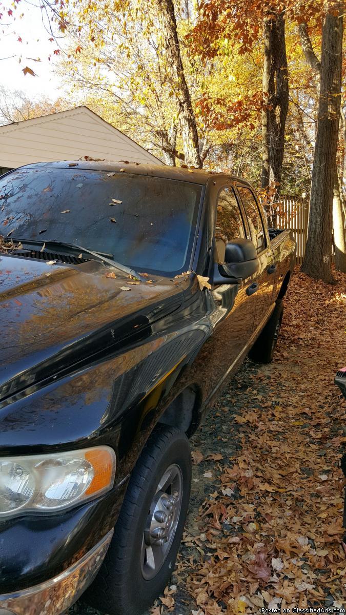 04 2500 Dodge, Diesel, 4x4