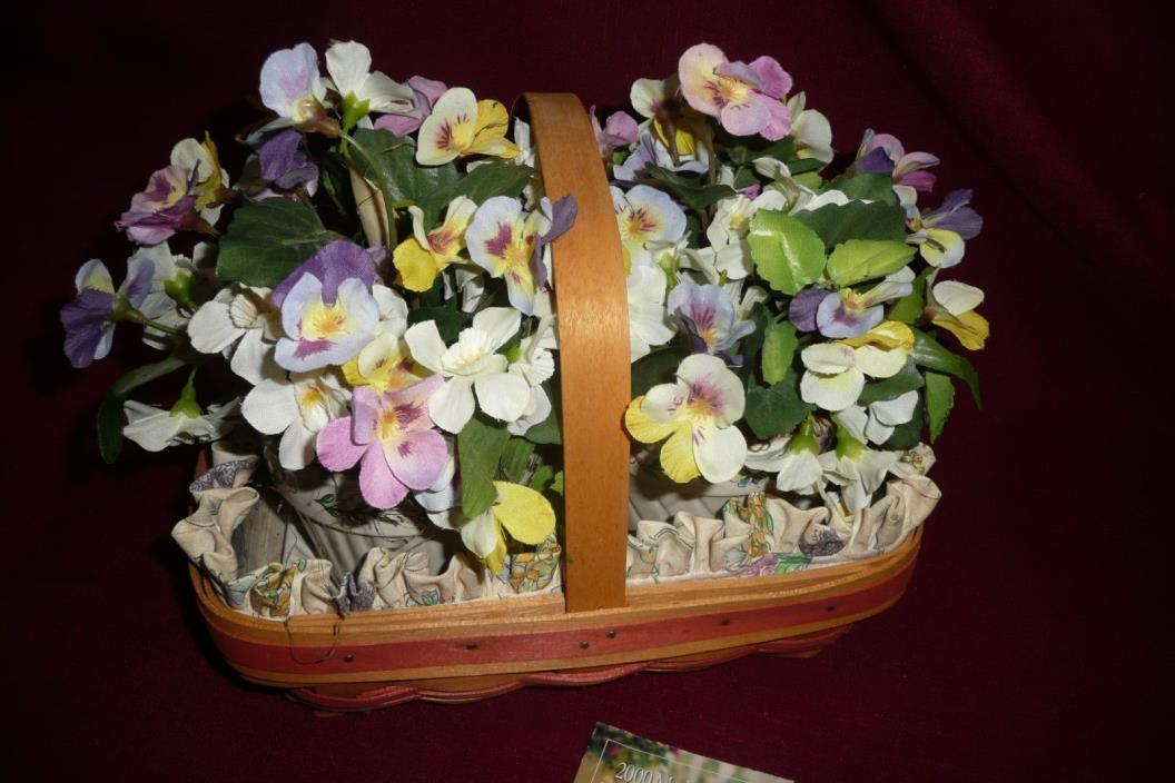 Longaberger Basket  2000 Mother's Day Early Blossoms Basket