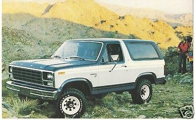 Original Vintage 1980 Car Advertising PC- Ford Bronco- Advanced Family 4-Wheeler