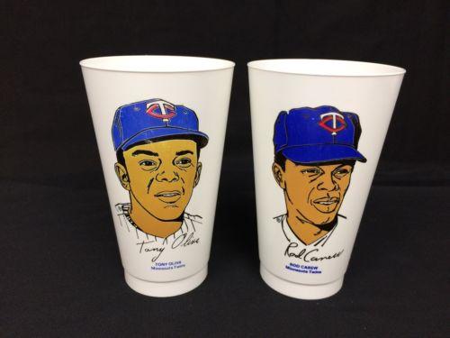 Vintage 7-11 Slurpee Cup Oliva Carew Minnesota MLB