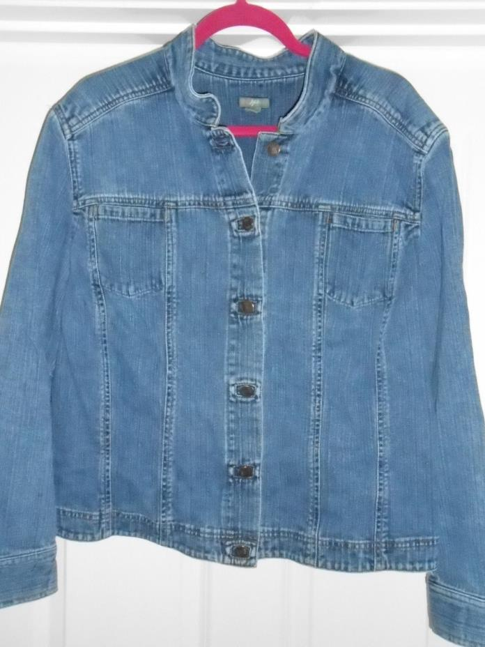 J.JILL J. JILL plus-size denim jean jacket sz 3X SUPER CUTE! FREE SHIPPING!