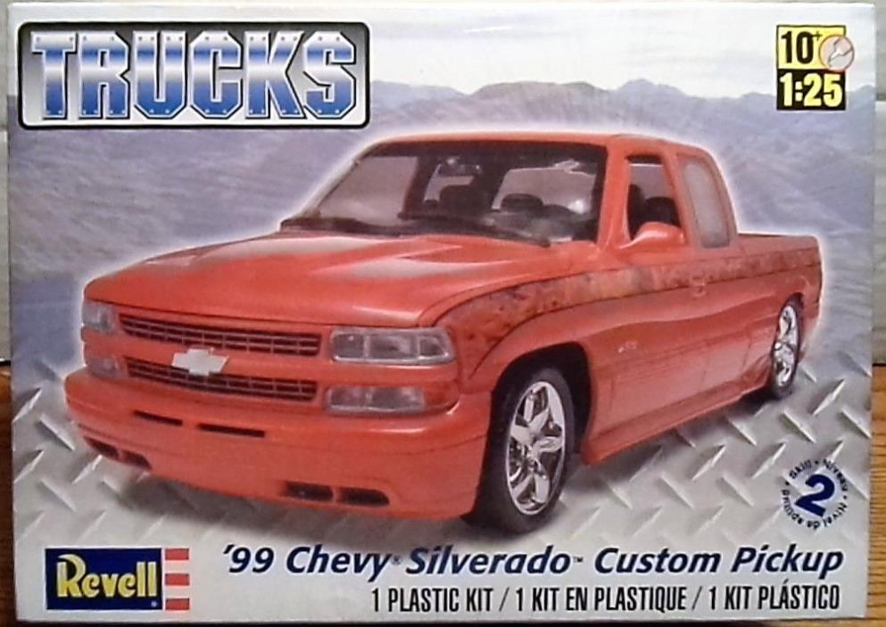 Revell 1999 Chevy Silverado Custom, 1/245, New (2011) Factory Sealed Box