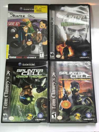 Splinter Cell Lot - Double Agent Chaos Theory Pandora Tomorrow GameCube Tested