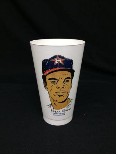 Vintage 7-11 Slurpee Cup Cesar Cedeno Huston MLB