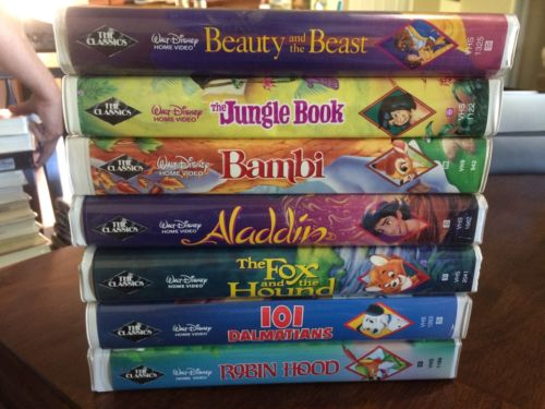 Disney Black Diamond Classics VHS Lot