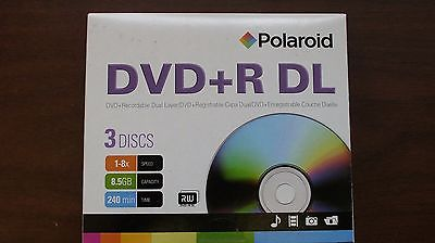 Polaroid 8.5gb or 240 Minutes in SP mode blank DVD+RDL.