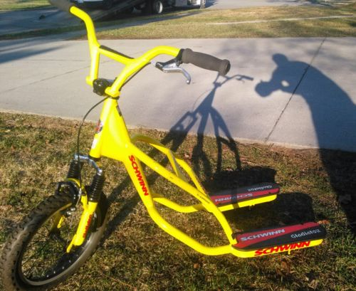 RARE Schwinn Gladiator Scooter Vintage Bike 3:Wheel Scooter Collectible Yellow