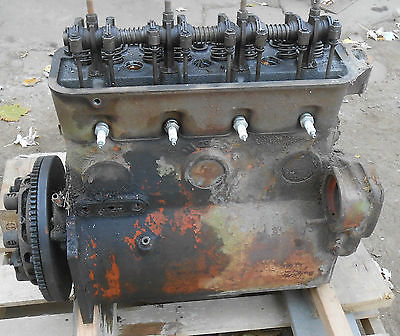 VINTAGE USED ALLIS CHALMERS CA ENGINE/MOTOR WITH HEAD CLUTCH AND OIL PAN