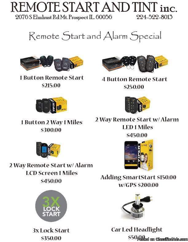 Remote Start - $215 Installed (Mount Prospect)