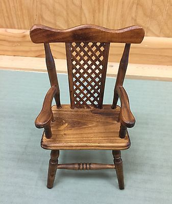 Small Brown Wooden Decorative Chair