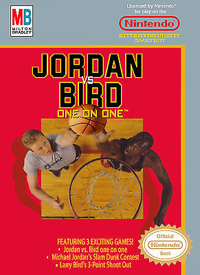 Nintendo Nes  Jordan vs. Bird  Box Cover Photo Poster 8.5