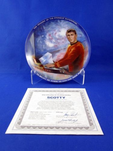 Vintage Star Trek Hamilton Collection Plate Scottie
