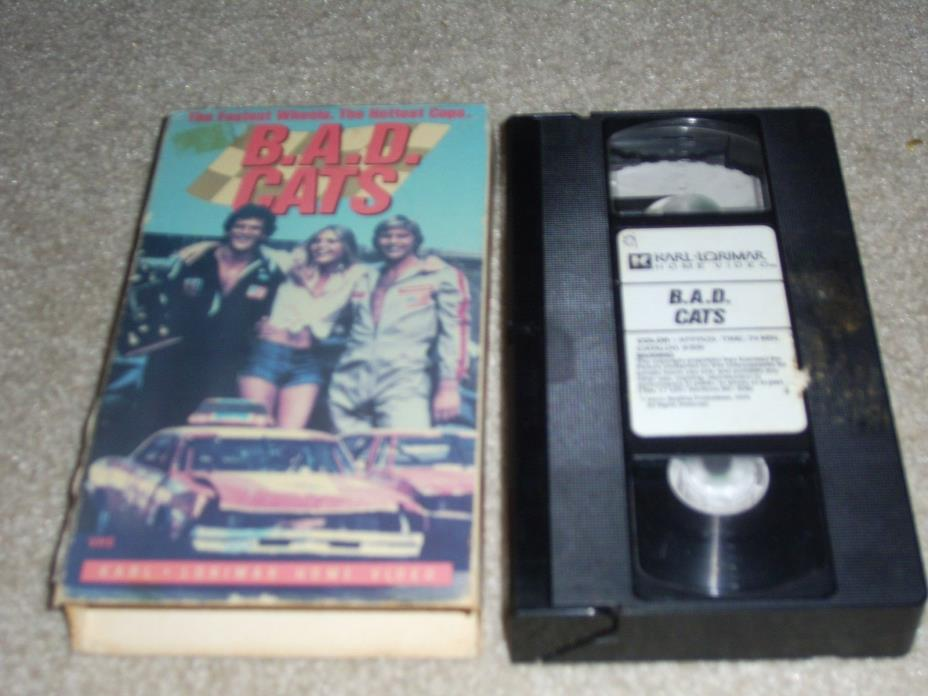 B.A.D. CATS 1980 (VHS) Vic Morrow,  Michelle Pfeiffer RARE,  OOP!