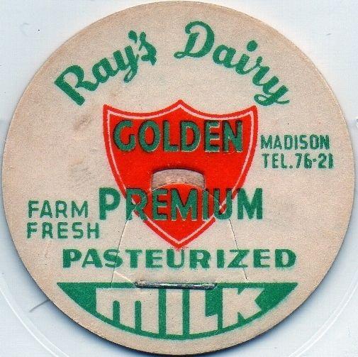 Milk Bottle Cap -(h100)- Ray's Dairy - Madison, (Maine) - TEL. 76-21- Farm Fresh