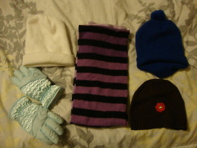 winter clothes childs hats gloves scarf