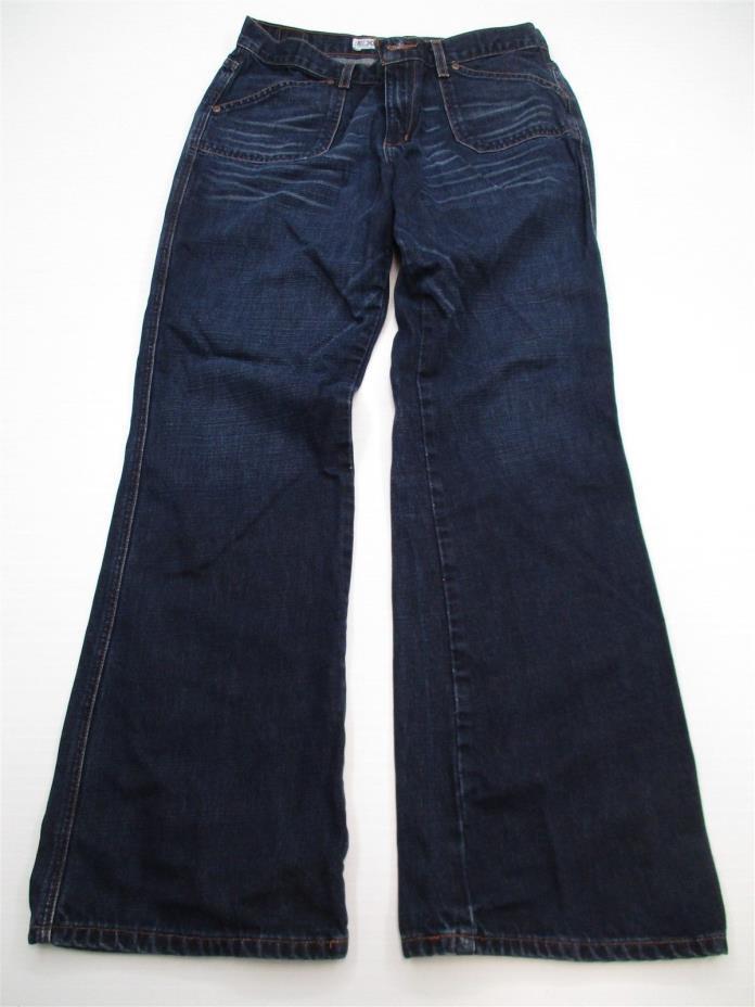 EXPRESS P3884 Women's Size 12 Dark Wash Wide Leg Boot Cut 100% Cotton Jeans