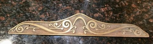Antique fancy brass pediment cash register scale