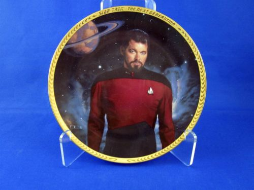 Vintage Star Trek Hamilton Collection Plate William Riker