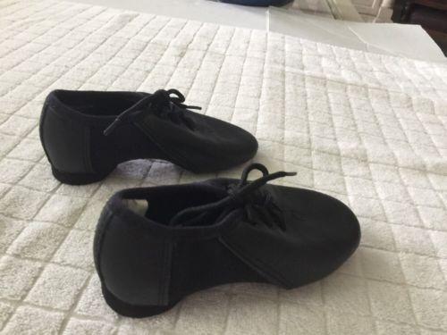 REVOLUTION Dancewear Black Jazz Dance Cheer Shoes Toddler Girls Sz 11 Style 451