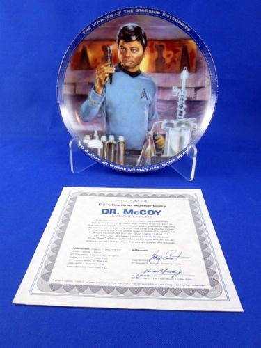 Vintage Star Trek Hamilton Collection Plate Dr McCoy
