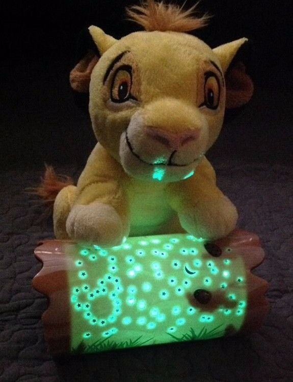 Simba NIGHT LIGHT Lion King Plush Working Star Projector Disney Baby Cloud B