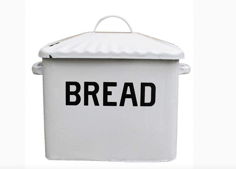 Enamel Metal Bread Box