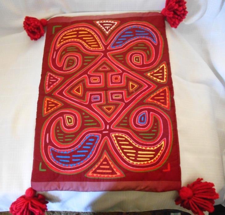 Mola Kuna Indians Panama Folk Art Arrow design