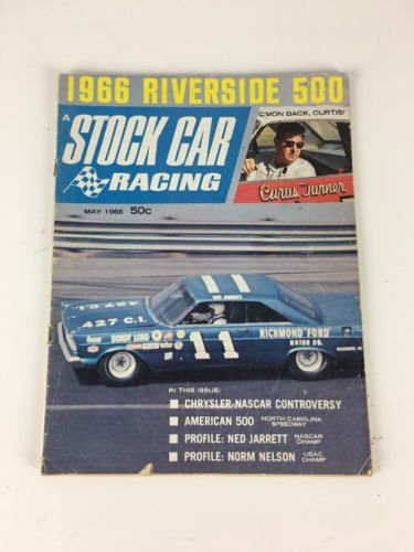 May 1966 STOCK CAR RACING Magazine Volume 1 Number 1 1st Issue