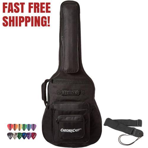 NEW ChromaCast Acoustic Guitar 6-Pocket Padded Premium Gig Bag with Guitar Strap
