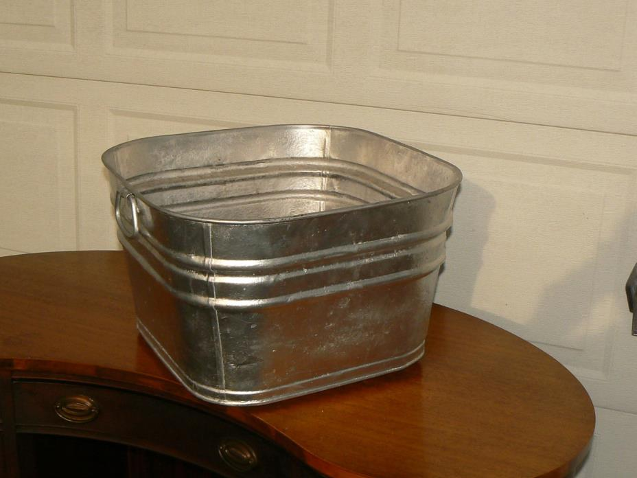 Vintage galvanized wash tub for sale classifieds for Old galvanized bathtub